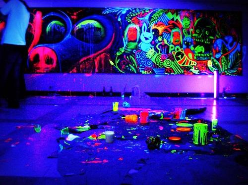 decoracao festa glow:Pequeno grande mundo: Tudo Neon